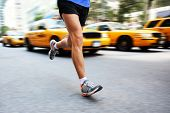 foto of sprinter  - Running in New York City  - JPG
