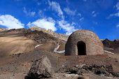 picture of aconcagua  - refugio de monta - JPG