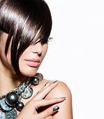 image of silver-hair  - Fashion Model Girl Portrait - JPG