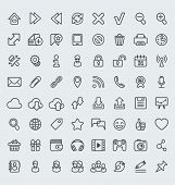 Universal Web Icons Outline Set