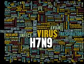 stock photo of avian flu  - H7N9 Concept as a Medical Research Topic - JPG