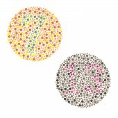 Ishihara Test. daltonism,color blindness disease. percepcion test