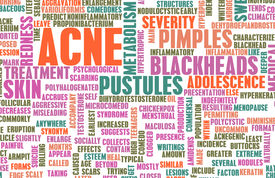 foto of papule  - Acne Problem and Treatment Concept as Art - JPG