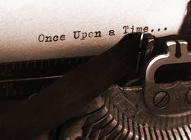 picture of old vintage typewriter  - a photo of an old type writer with focus on the text - JPG