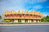 stock photo of communist symbol  - Chaktomuk Conference Hall in Phnom Penh - JPG