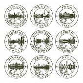 image of zurich  - Grunge rubber stamps with London - JPG