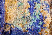 stock photo of malachite  - Colorful mat malachite surface in close up - JPG