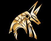 stock photo of anubis  - Egyptian Anubis Statue Vector Graphic Design by Tree - JPG