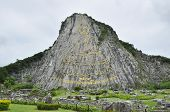 picture of chan  - 130 Mtr High Golden Buddha Laser Carved And Inlayed With Gold On Khao Chee Chan Cliff - JPG