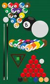 picture of snooker  - vector illustrations of balls for billard and snooker - JPG