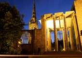 stock photo of west midlands  - Parts of the old and new Cathedrals  - JPG