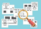 stock photo of storyboard  - Vector concept of search page with information - JPG