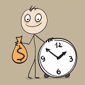 picture of holding money  - Time is money - JPG