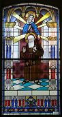 foto of leopold  - Stained glass with Saint Leopold Mandic - JPG