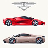 stock photo of car symbol  - Super car design concept - JPG