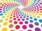 pic of compose  - circular background composed of colorful dots in perspective - JPG