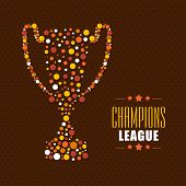 picture of cricket shots  - Stylish winning trophy for Cricket Champions League on brown background - JPG