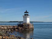 pic of lightning bugs  - Portland Breakwater Lighthouse  - JPG