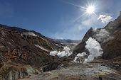 stock photo of volcanic  - Beautiful volcanic landscape of Kamchatka - JPG