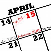 picture of irs  - a 2015 calendar date tax day icon - JPG