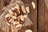 image of brazil nut  - Portion of healthy Brazil Nuts as detailed close - JPG