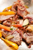 picture of lo mein  - beef with vegetables - JPG