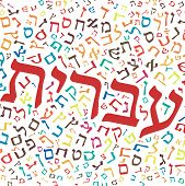 pic of hebrew  - hebrew alphabet texture background  - JPG