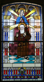 picture of leopold  - Stained glass with Saint Leopold Mandic - JPG