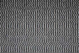 stock photo of distort  - Black and White Television Screen with Static Distortion  - JPG