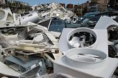 foto of raw materials  - materials collection center containing materials from which recycling raw materials - JPG
