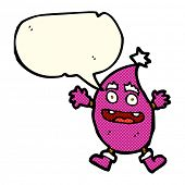 picture of creatures  - cartoon funny creature with speech bubble - JPG