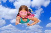 picture of superhero  - superhero travel flying concept or girl power - JPG