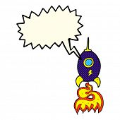 picture of spaceships  - cartoon spaceship with speech bubble - JPG