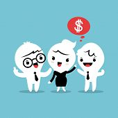foto of recommendation  - refer a friend referral cartoon concept illustration - JPG