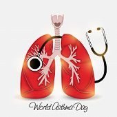 picture of asthma  - illustration of shiny lungs for World Asthma Day - JPG