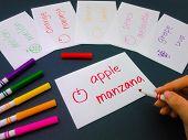 foto of card-making  - Making language flash cards for fundamental words - JPG