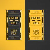 stock photo of passed out  - Entry cinema ticket in film footage style - JPG