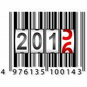 stock photo of barcode  - 2016 New Year counter - JPG
