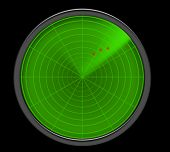 A Green Radar Screen Showing Threats