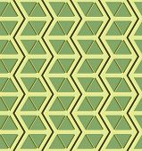 picture of isosceles  - Beautiful seamless pattern of zigzags and triangles in yellow and shades of green color - JPG