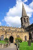 pic of church-of-england  - All Saints Parish Church and churchyard Bakewell Derbyshire England UK Western Europe - JPG