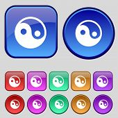 foto of ying yang  - Ying yang icon sign - JPG