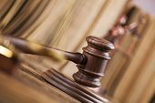 pic of justice  - Wooden gavel barrister - JPG