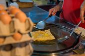 image of tropical food  - Egg for making an indian traditional food made of flour, crispy flat bread