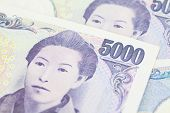 image of japanese coin  - Stack of japanese currency yen or Japanese banknotes - JPG