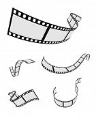 image of strip  - film roll strip tape set design - JPG