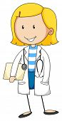 picture of grown up  - Close up doctor with stethoscope - JPG