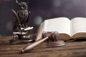 picture of punish  - Wooden gavel barrister - JPG