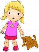 picture of rabies  - Illustration of a Girl Bitten by a Dog - JPG