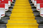 Постер, плакат: Steps Between The Stands At The Stadium